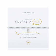 Joma Jewellery A Little YOU'RE A HOOT Silver Plated Beaded Bracelet